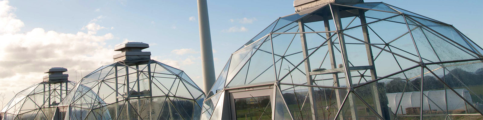 The biodomes at Hazelrigg Field Station