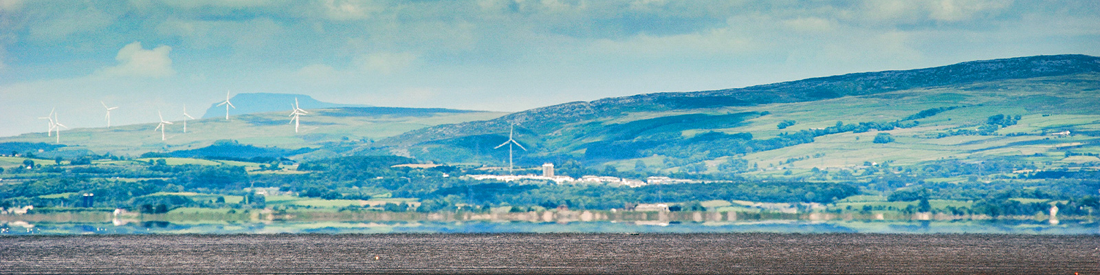 Looking across Morecambe Bay to Lancaster University