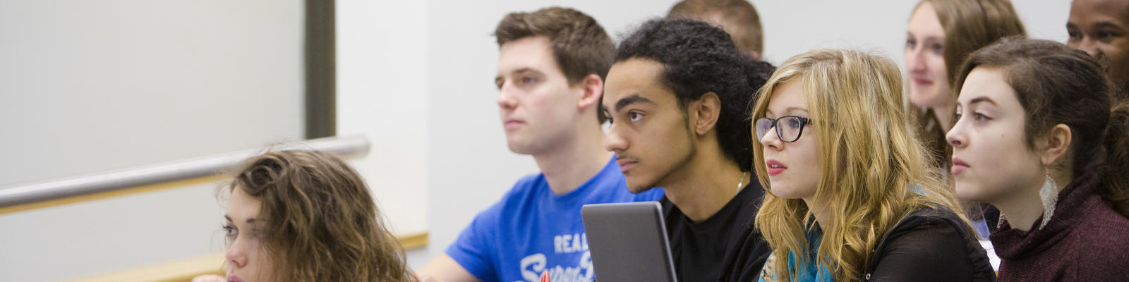 Students listen during a lecture