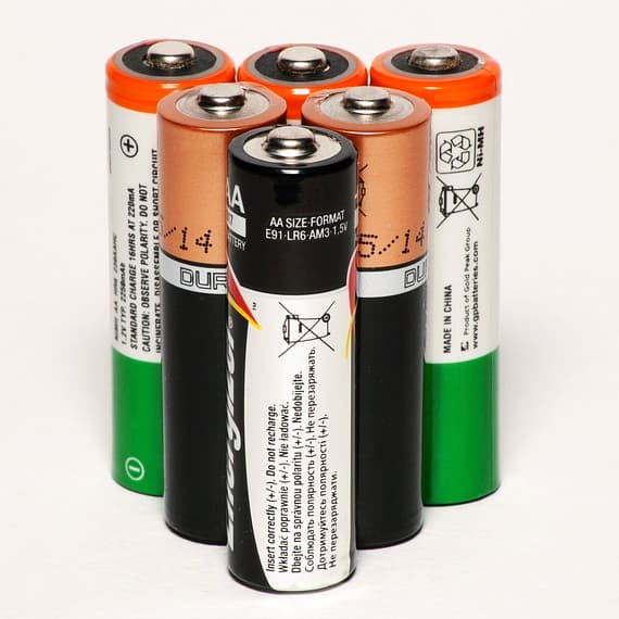 Six AA batteries
