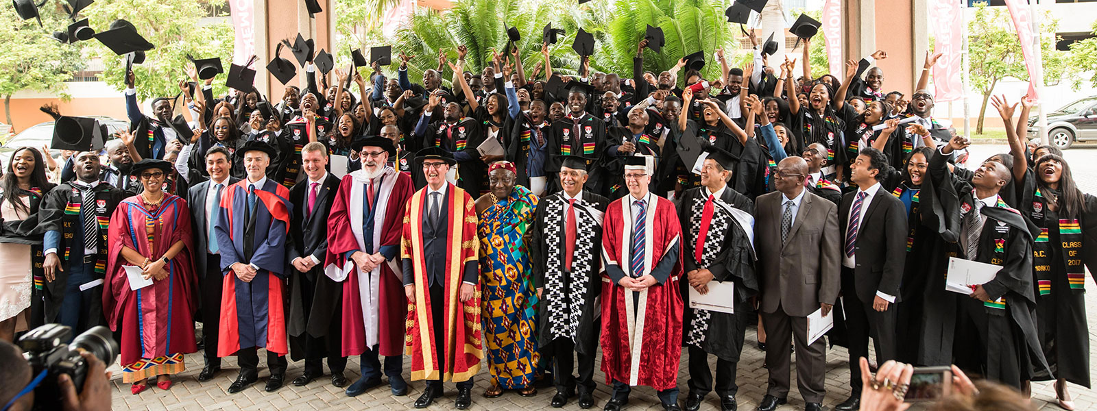 Students graduating from LU Ghana