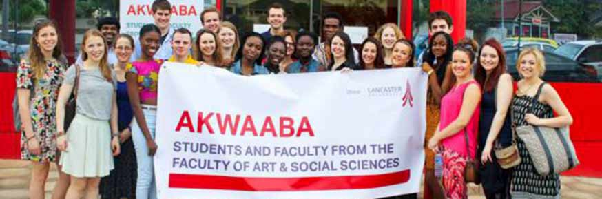 Students and Faculty from the Faculty of Art and Social Sciences visiting Ghana