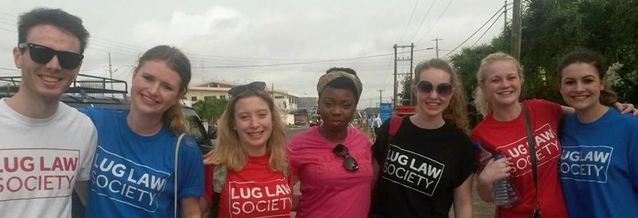 Group of LU Law students in Ghana