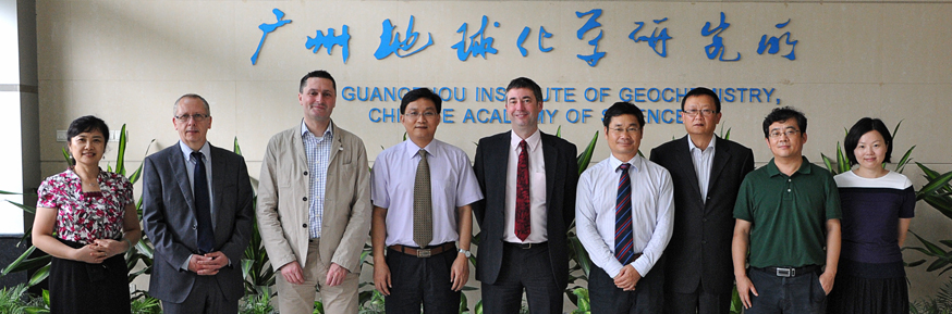 Members of the Chinese Academy of Sciences meet staff from Lancaster Environment Centre