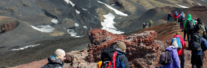 Students trek volcano