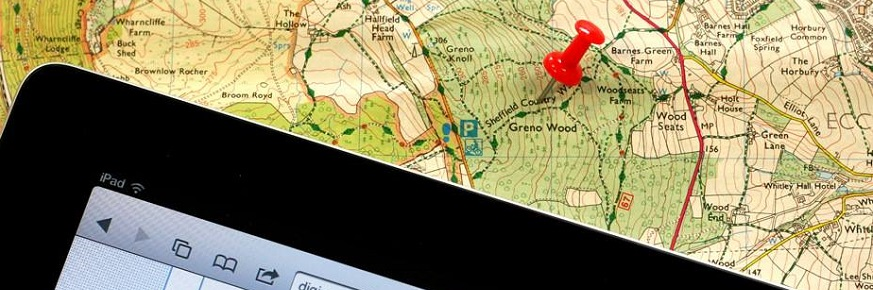 Map and iPad