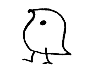 A cartoon bird