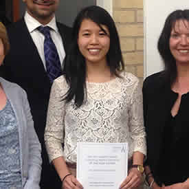 "Student nets placement award after ""informative, interesting and engaging"" presentation"