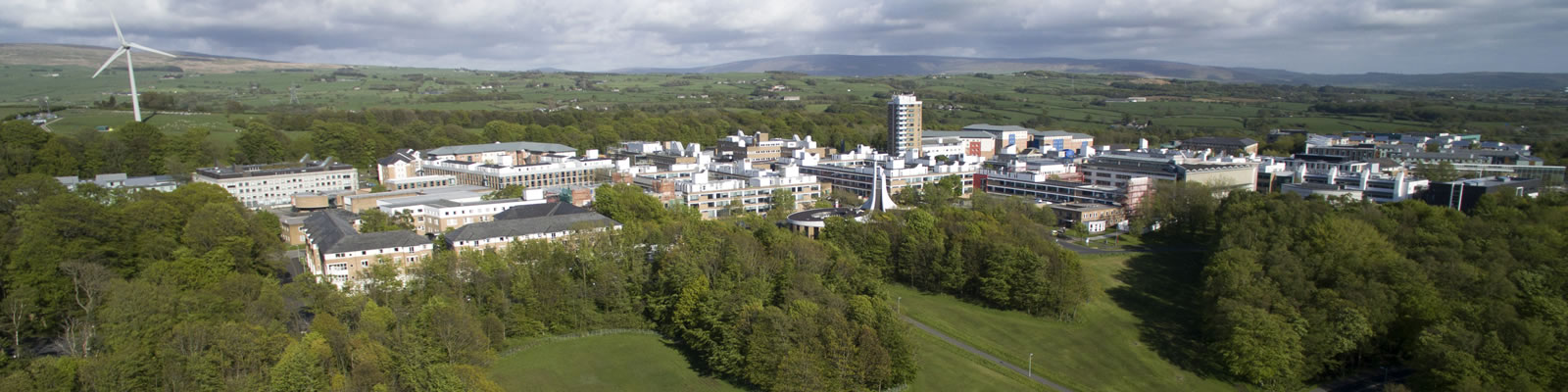 Aerial photograph of Bailrigg Campus