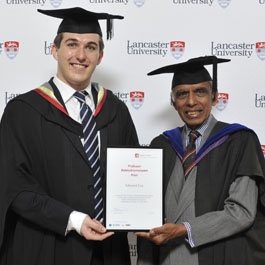 Professor Balasubramanyam Prize the 'icing on the cake' for Economics graduate