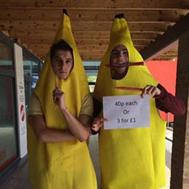 Students dressed as bananas