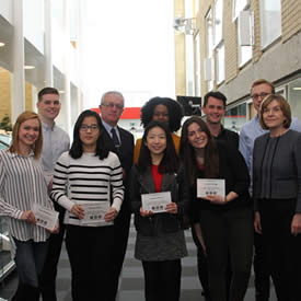 Franchising students net £400 prize for best project