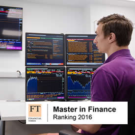 MSc Finance rises to 30th in world rankings