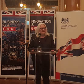 PhD student presents to government ministers at Croatian-British Business Forum