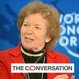 Mary Robinson: climate change 'very likely' to increase radicalisation