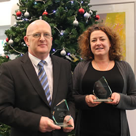 Pair honoured with staff of the year awards