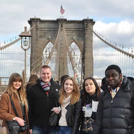 Students gain business insight from Dyn and Acquia execs on US trip