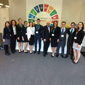 Student group attend 'insightful and empowering' WBCSD meeting in Switzerland