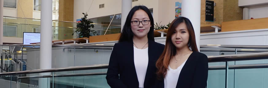 Qingqing Chen and Sue Ann Yap