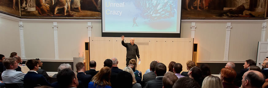 Kevin Roberts giving a speech on Professor Sir Roland Smith CEO Lecture 2014.
