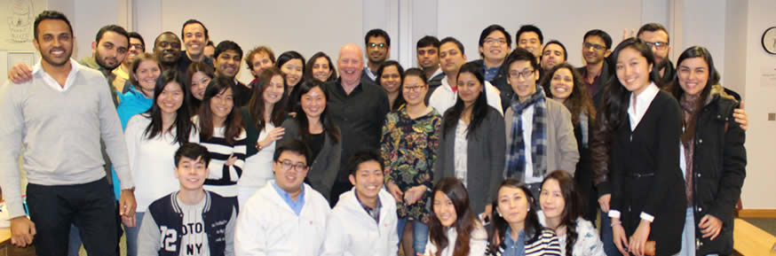 Kevin Roberts with the MBA class