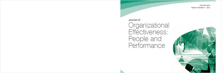 The Journal of Organizational Effectiveness: People and Performance cover