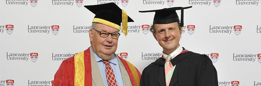 Pro-Chancellor Lord Roger Liddle and Rainer Hersch