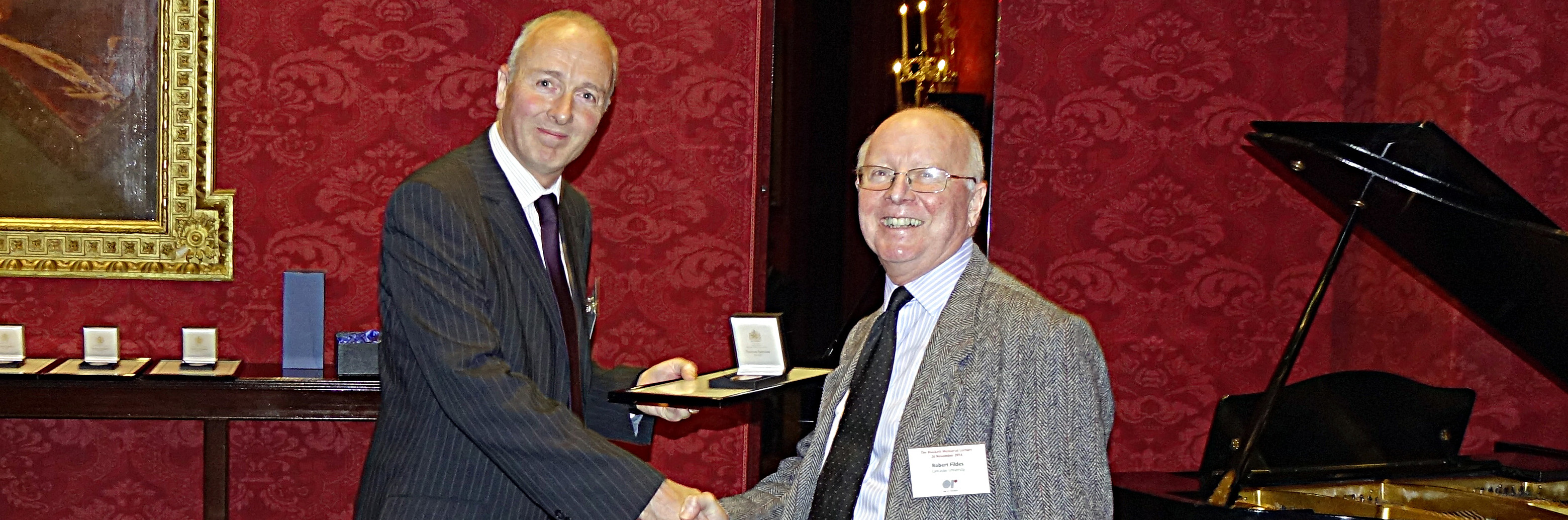 Professor Stewart Robinson, President of the OR Society, and Professor Robert Fildes.
