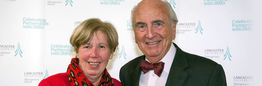 Professor Sue Cox with Lord Young