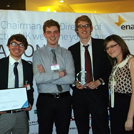 Enactus Lancaster wins 'Most Improved Team' award at national competition
