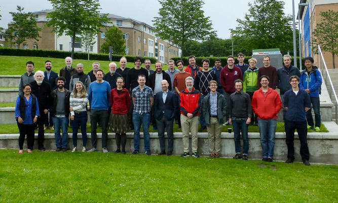 "Photo of participants in workshop ""Geometric constraint systems 2019"""