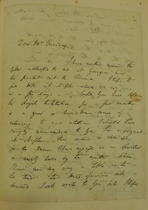 A page from a letter from Davy to Michael Faraday, 16 November 1819 (RI MS F/8, p. 368a). Faraday tipped this letter (and others) into his copy of John Ayrton Paris's 'The Life of Sir Humphry Davy' (1831). Reproduced by courtesy of the Royal Institution of Great Britain.