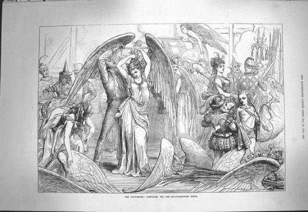 A transformation scene in a 19th century pantomime. © University of Exeter