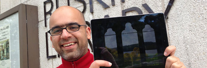 Tarun Sainani and his new mobile app for Brantwood at Coniston