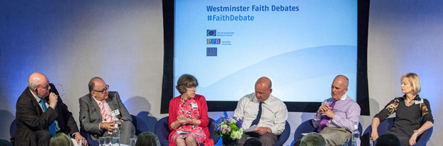 Speakers at one of the highly successful spring 2013 Westminster Faith Debates
