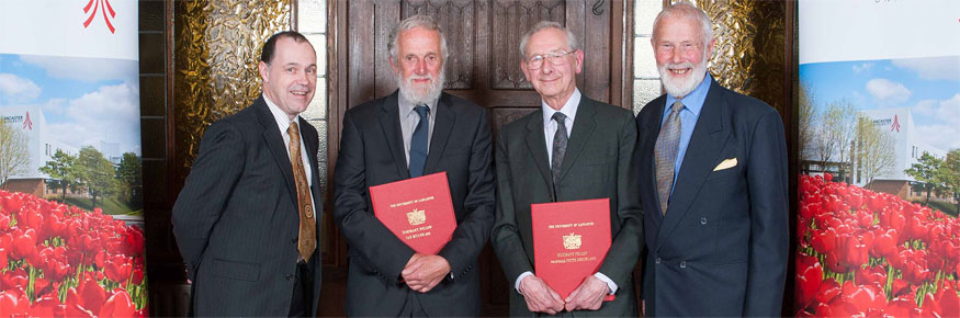 From left: Ian Miller, Peter Checkland and the Chancellor