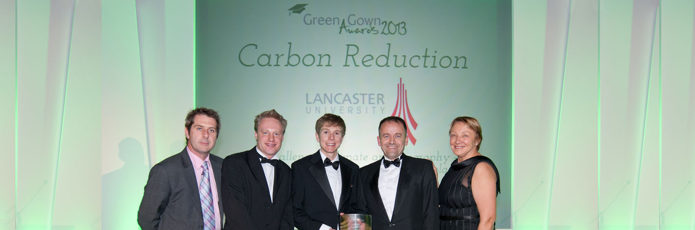 Iain Stewart, Philip Longton, Environment and Sustainable Travel Co-ordinator, Darren Axe, Green Lancaster  Jonathan Mills, Carbon, Environment and Sustainability Manager
