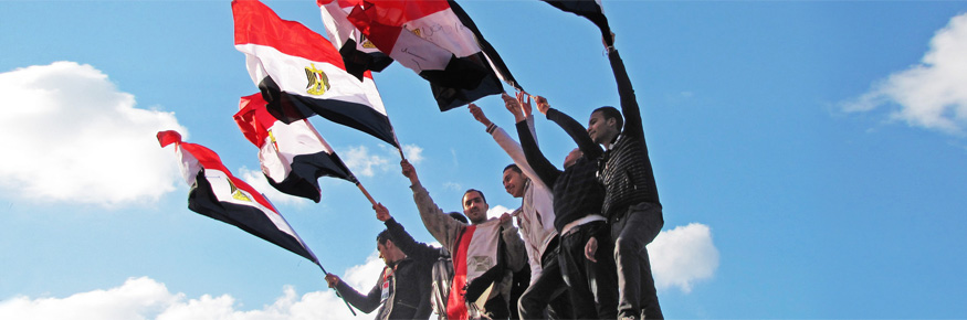 Egyptian revolution; demonstrations on Corniche road, Alexandria, Egypt ©
