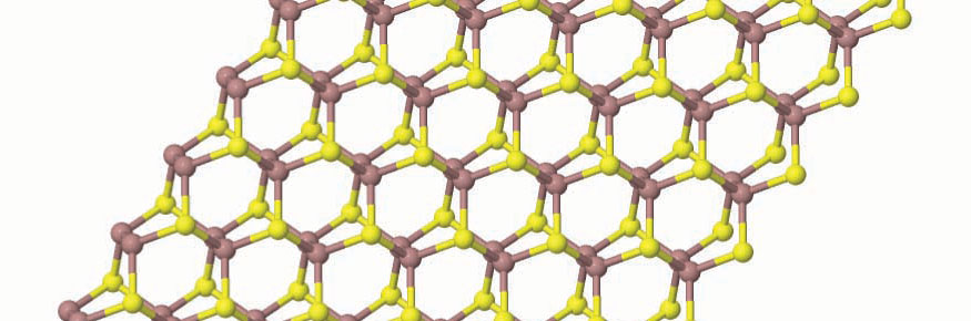 A 2D material: part of the atomic structure of gallium sulphide