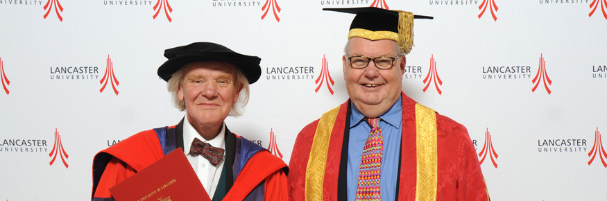 Allan Chapman with the Pro Chancellor Lord Liddle
