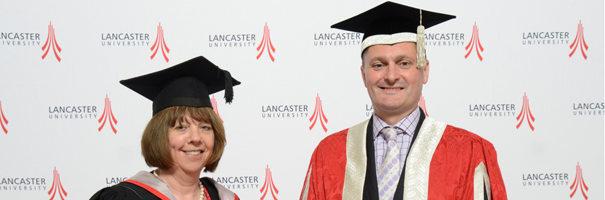 Caroline Rookes with the Deputy Vice-Chancellor Professor Andrew Atherton