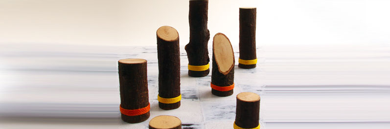 Balanis Chess Set made from local Holm Oak and Flax