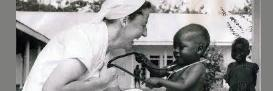 Dr Anne Merriman at work after the Biafran War in 1971 at a hospital in SE Nigeria