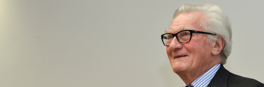 Lord Heseltine was speaking about regional economic growth at Lancaster University Management School.