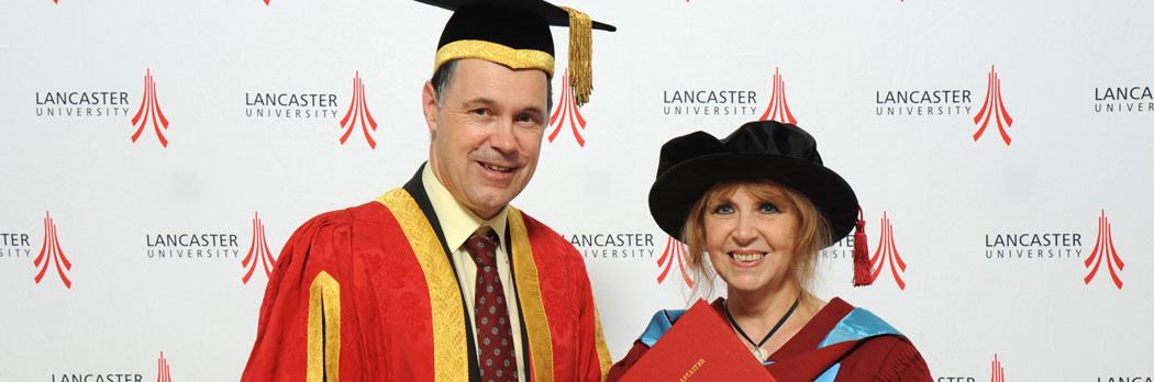 Carol Birch DLitt with the Vice-Chancellor Professor Mark E.Smith