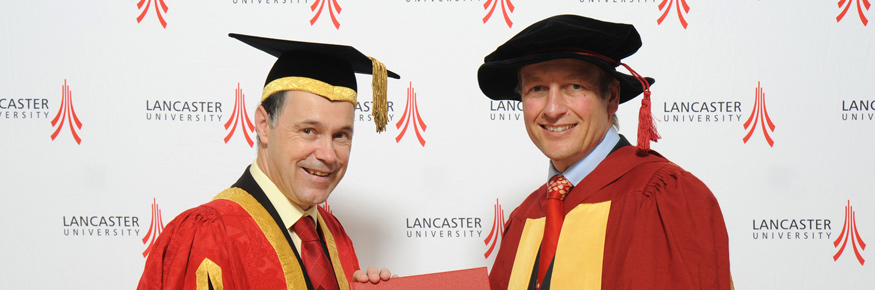 The Vice-Chancellor Professor Mark E.Smith with Professor Paul Boyle DSc