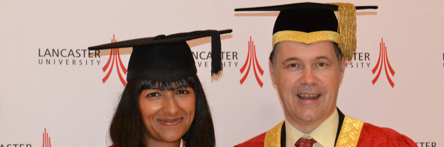 Ranvir Singh with the Vice-Chancellor Professor Mark E. Smith
