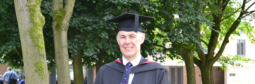 Paul Thompson gained a 2.1(Hons) in History and now plans to study for a Masters degree