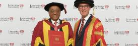 Dr Mohamed Ibrahim with the Chancellor the Rt Hon Alan Milburn