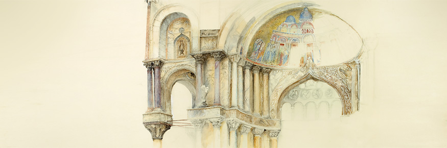 Ruskin Library Brings Masterpieces Online  - John Ruskin: North West Porch of St Mark's, Venice 1877
